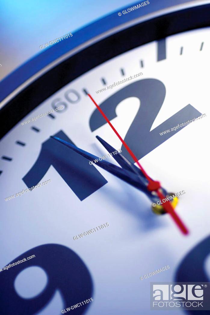 Stock Photo: Close-up of a clock.