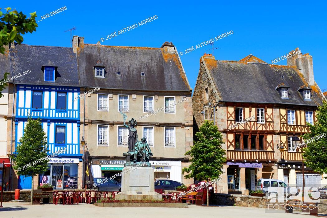 Stock Photo: Treguier, Martray Square, Côtes d'Armor, Lannion District, Bretagne, Brittany. France.