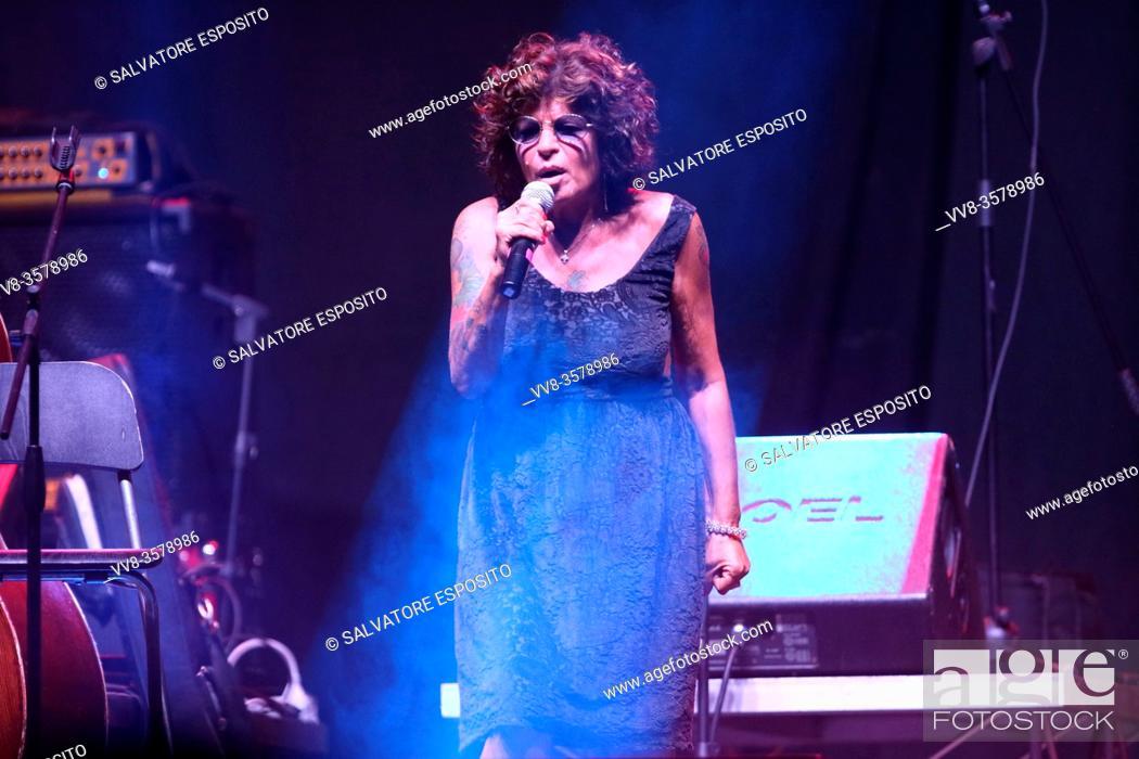 Stock Photo: MUSICA IDENTITÀ RIVOLUZIONE Festival of ethnic and author music, concert with Pietra Montecorvino.