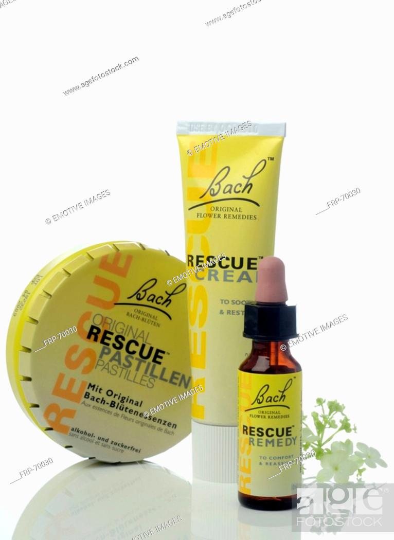 Stock Photo: Rescue remedies.
