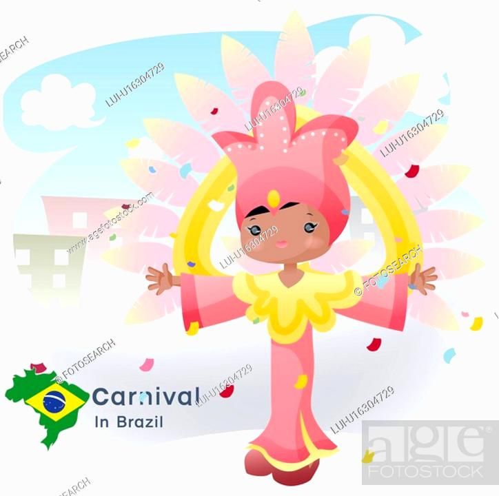 Stock Photo: sightseeing, carnival, national flag, map, tourism, brazil.
