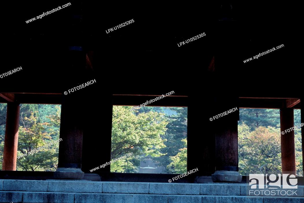 Stock Photo: Trees Behind Terrace.