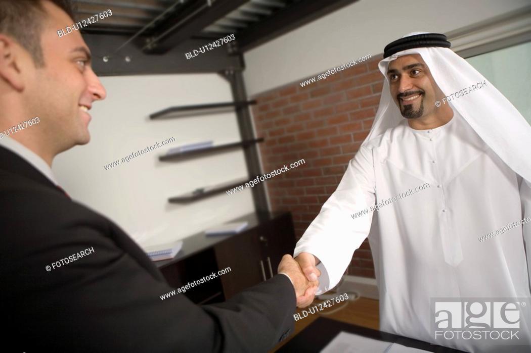 Stock Photo: business, handshake, shake, hand, Arabic.