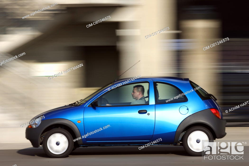 Stock Photo Car Ford Ka Student Model Year  Blue