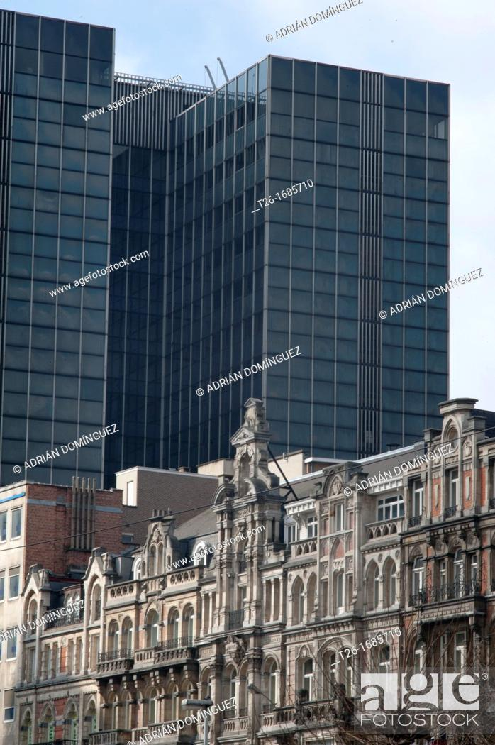 Stock Photo: old and modern architecture in Brussels, Belgium.