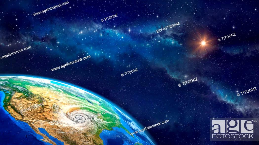 Very High Definition Picture Of Planet Earth In Outer Space With A