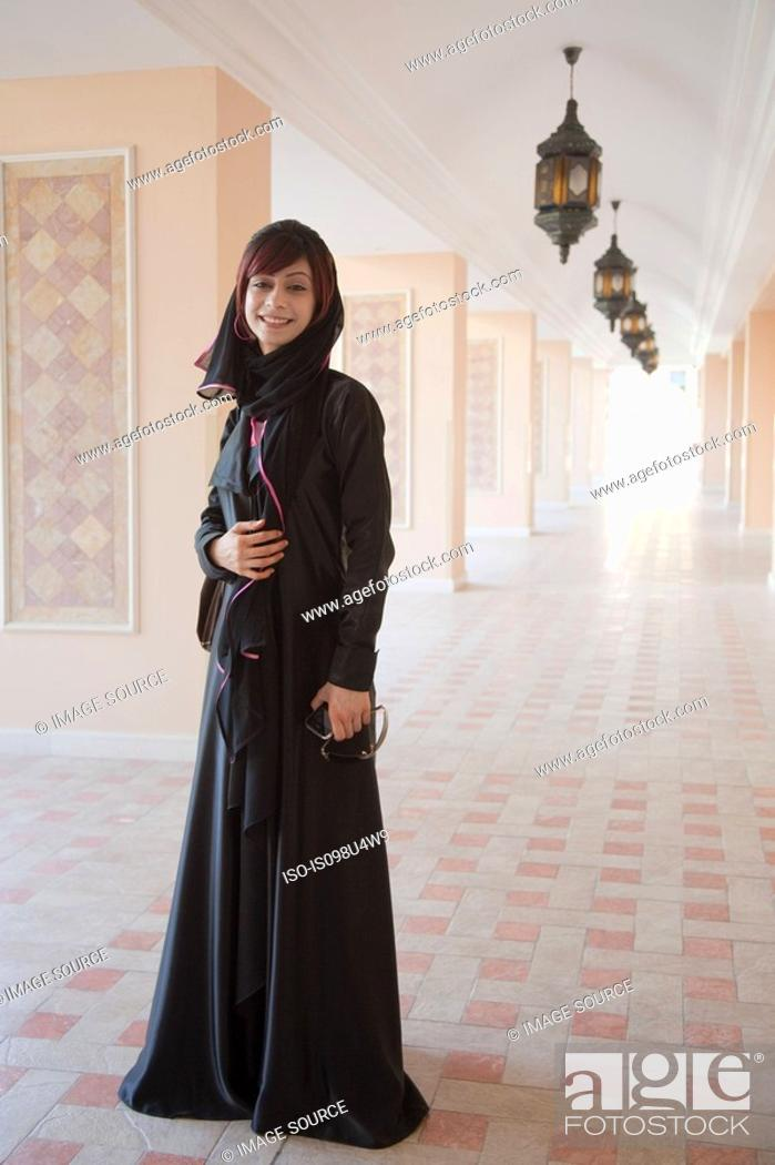 Stock Photo: Middle Eastern woman, portrait.