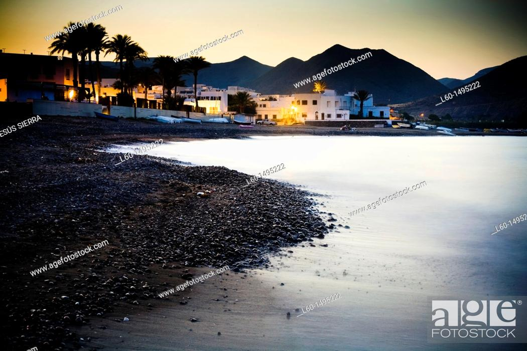 Stock Photo: Las Negras, Cabo de Gata, Spain.