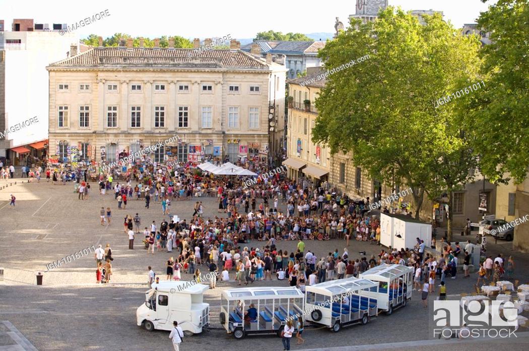 Stock Photo: Plaza in Avignon, Provence-Alpes-Cote d'Azur, France.