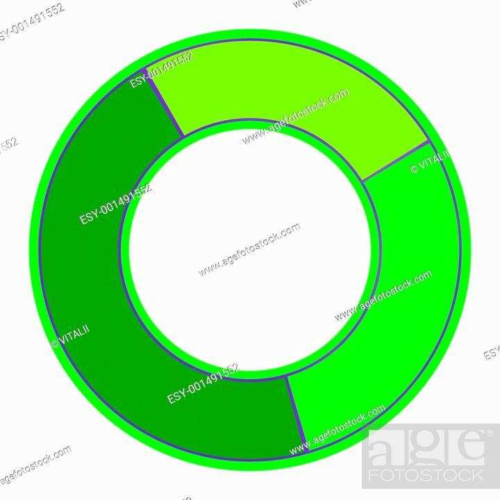 Stock Photo: Color Pie Diagram.