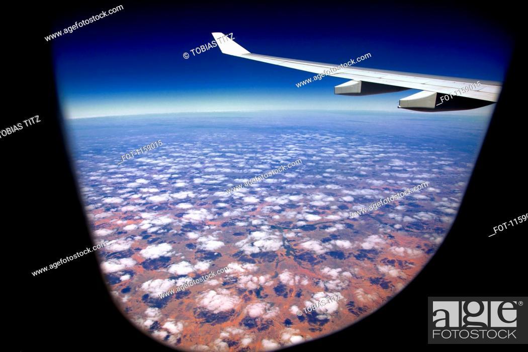 Stock Photo: Cloudscape over Pilbara landscape.