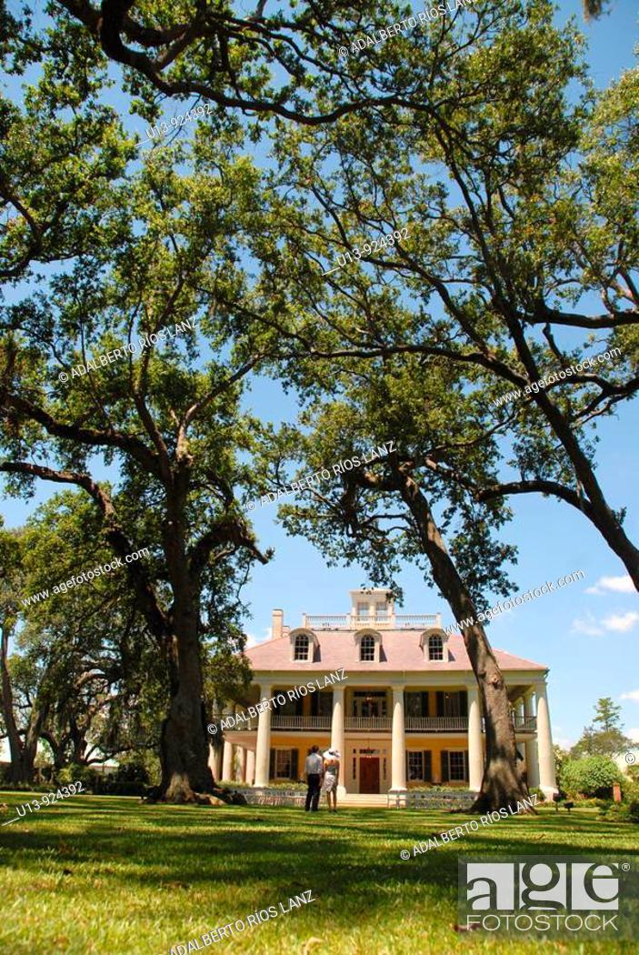 Stock Photo: Houmas Plantation House, Darrow, Louisiana, United States.