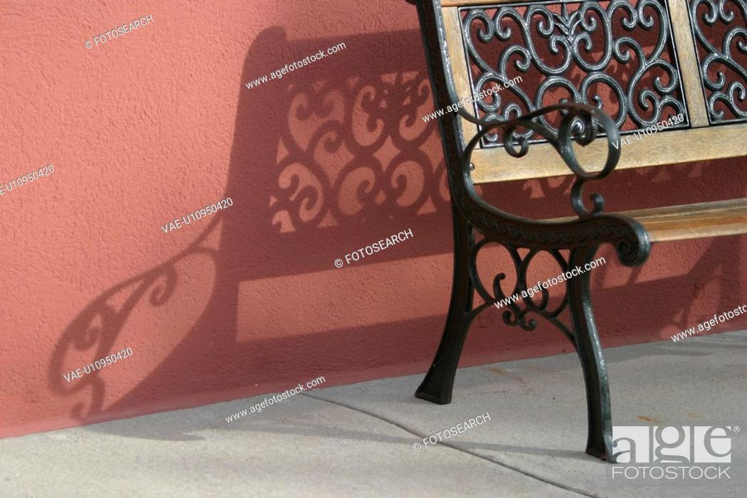 Stock Photo: metallic, decorative, decoration, molded, shadow, surface.