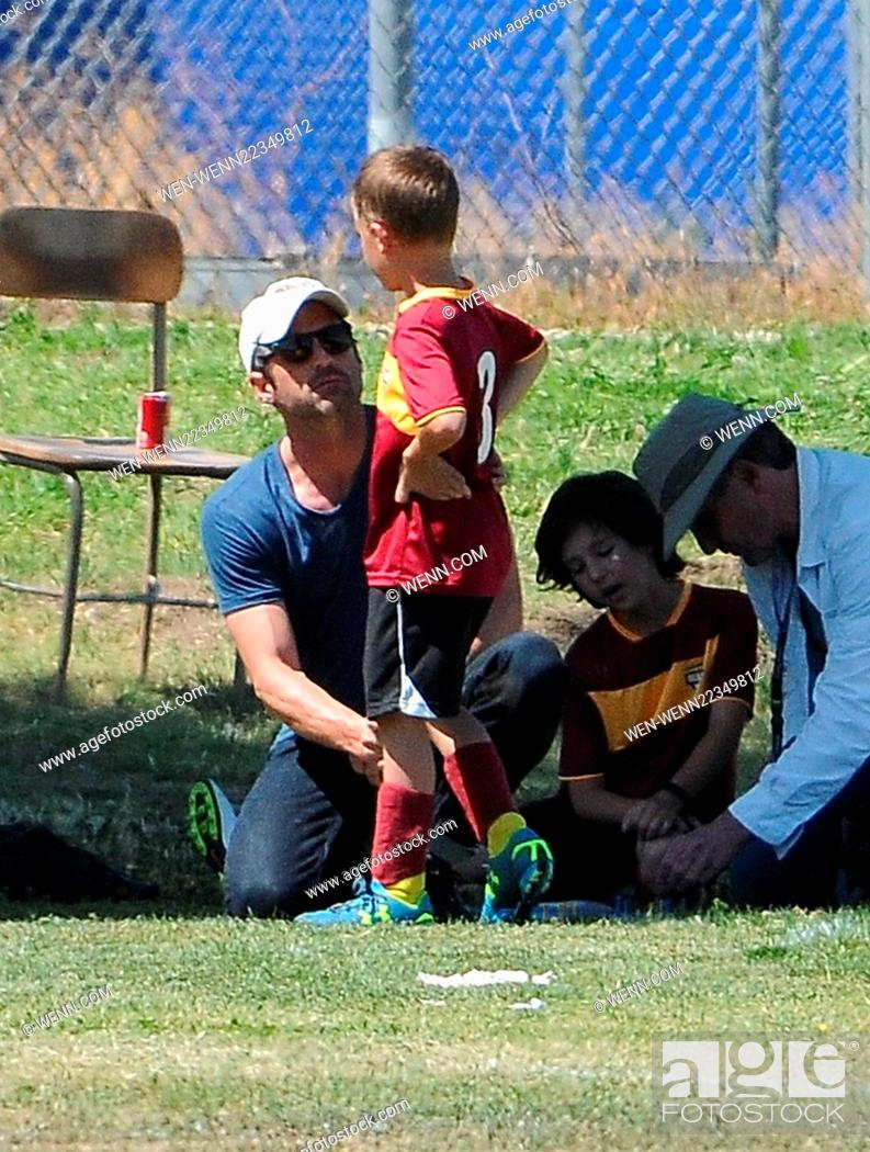 Patrick Dempsey Watches His Son Play At A Soccer Game Featuring