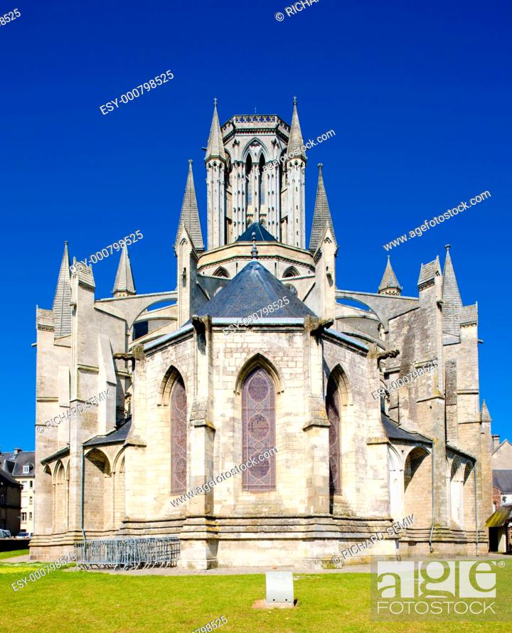 Stock Photo: Cathedral Notre Dame, Coutances, Normandy, France.