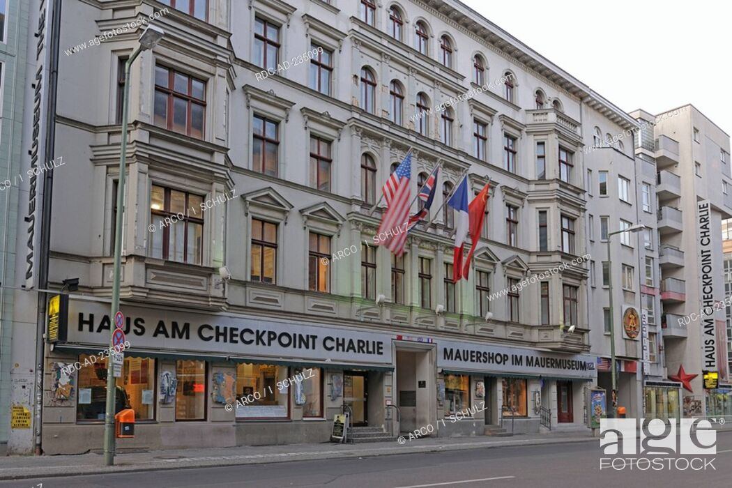House At Checkpoint Charlie Wall Museum Friedrichstrasse Berlin Germany Stock Photo Picture And Rights Managed Image Pic Rdc Ad 235099 Agefotostock