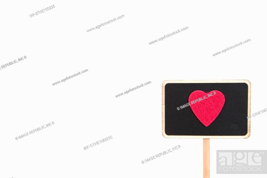 Stock Photo: heart shape on the sign.