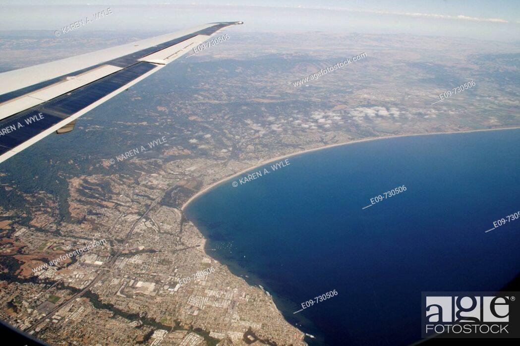 Stock Photo: Bay (San Francisco, California, USA) from jet plane.