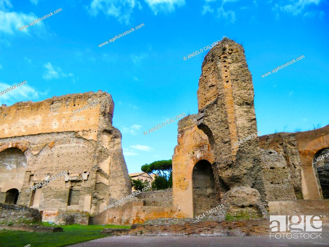 Imagen: Ruins of the Baths of Caracalla (Terme di Caracalla), Thermae Antoninianae , one of the most important baths of Rome at the time of the Roman Empire, Rome.