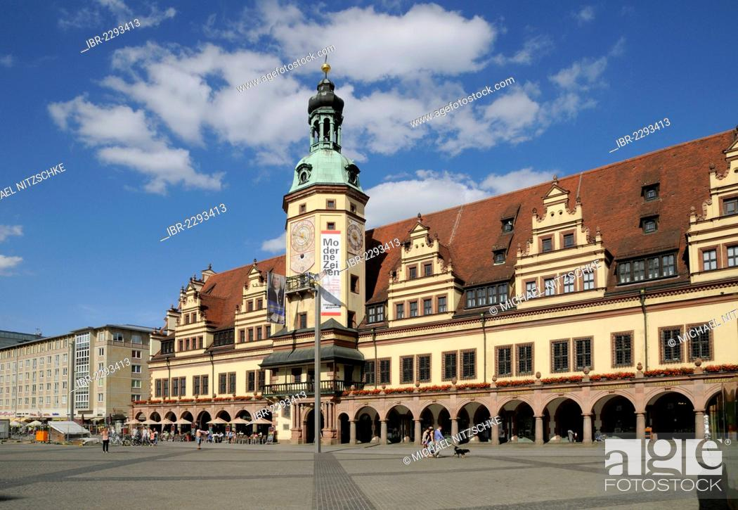 Old Town Hall Market Square Leipzig Germany Europe Stock Photo Picture And Rights Managed Image Pic Ibr 2293413 Agefotostock