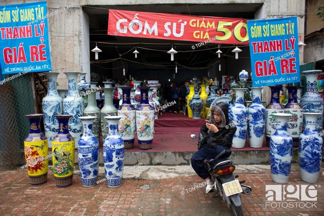 ceramic shop in Hanoi, Vietnam, Stock Photo, Picture And Rights