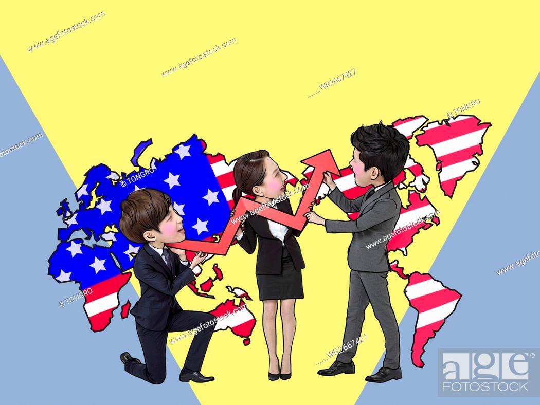 Imagen: Teamwork of global business.