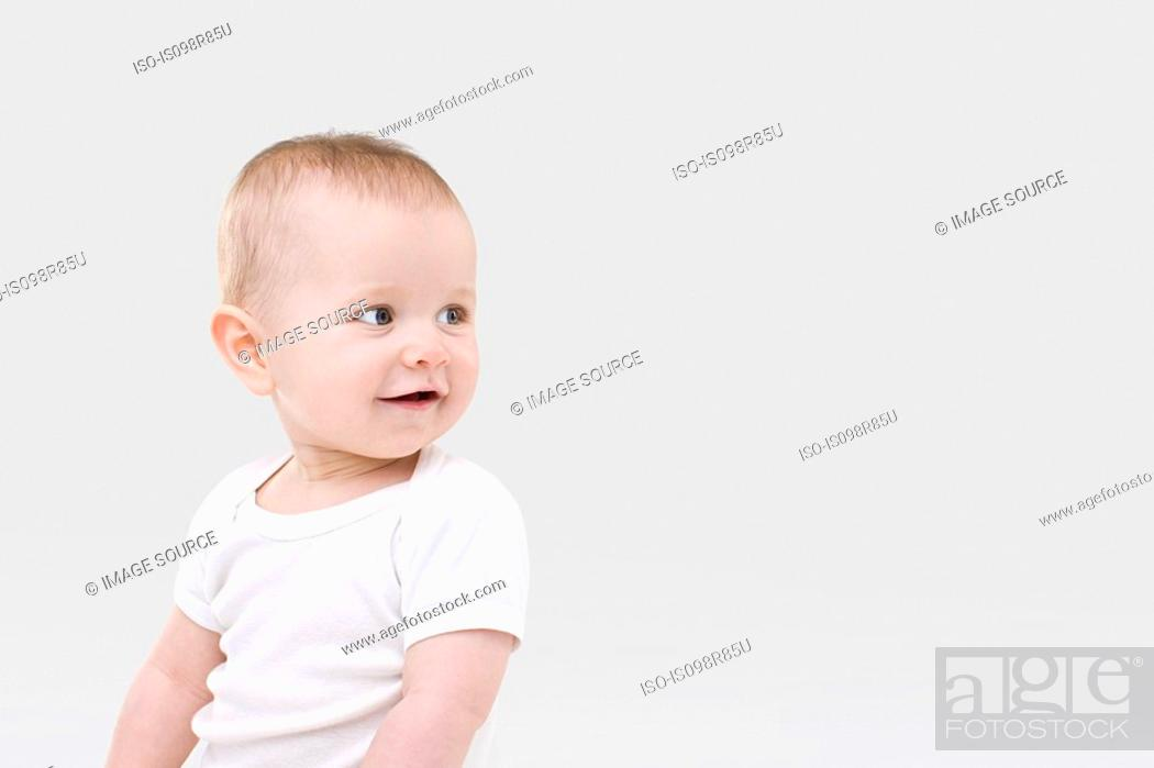 Stock Photo: Portrait of a baby.