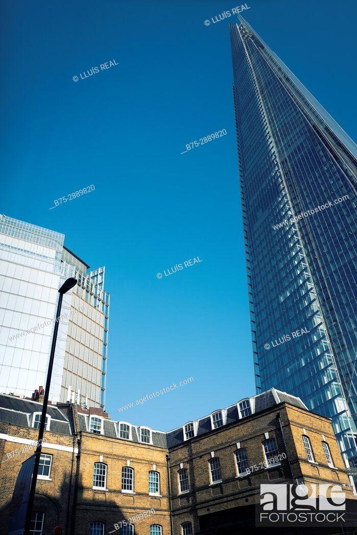 Stock Photo: The Shard, Southwark, London, England.