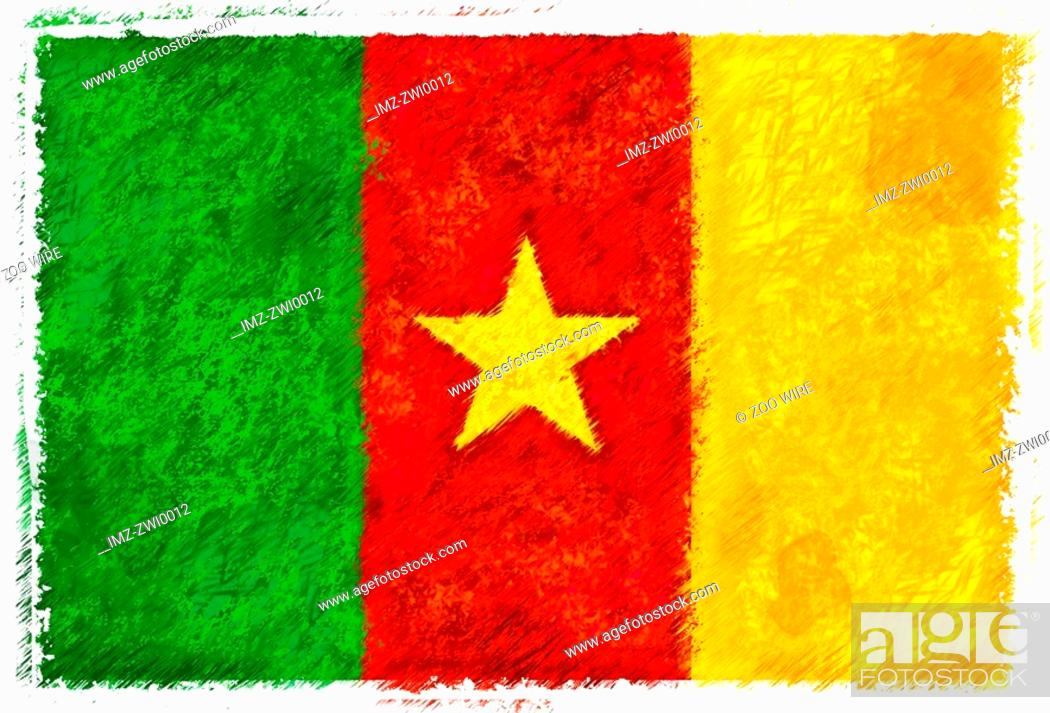 Stock Photo: Flag of Cameroon.
