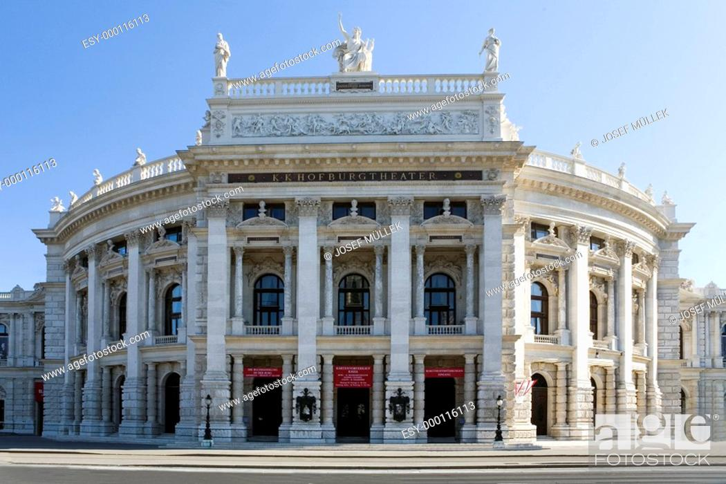 Stock Photo: Burgtheater in Wien.
