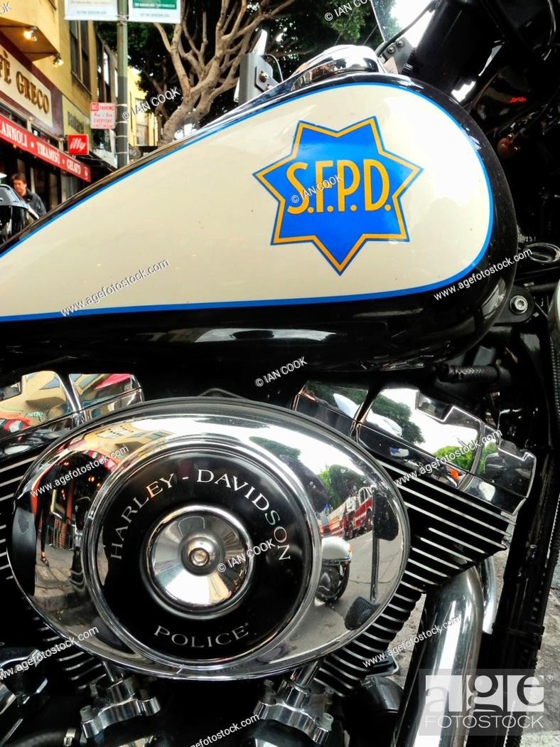 Harley Davidson San Francisco >> San Francisco Police Harley Davidson Motorcycle Parked On