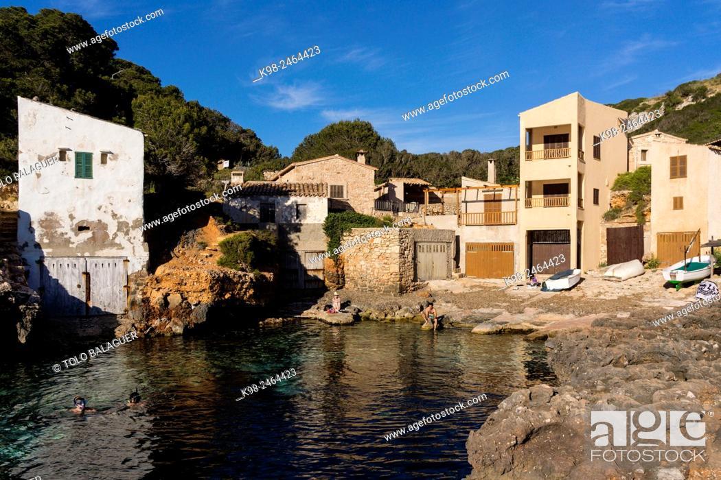 Stock Photo: Cala s'Almunia, Santanyí, Majorca, Balearic Islands, Spain.