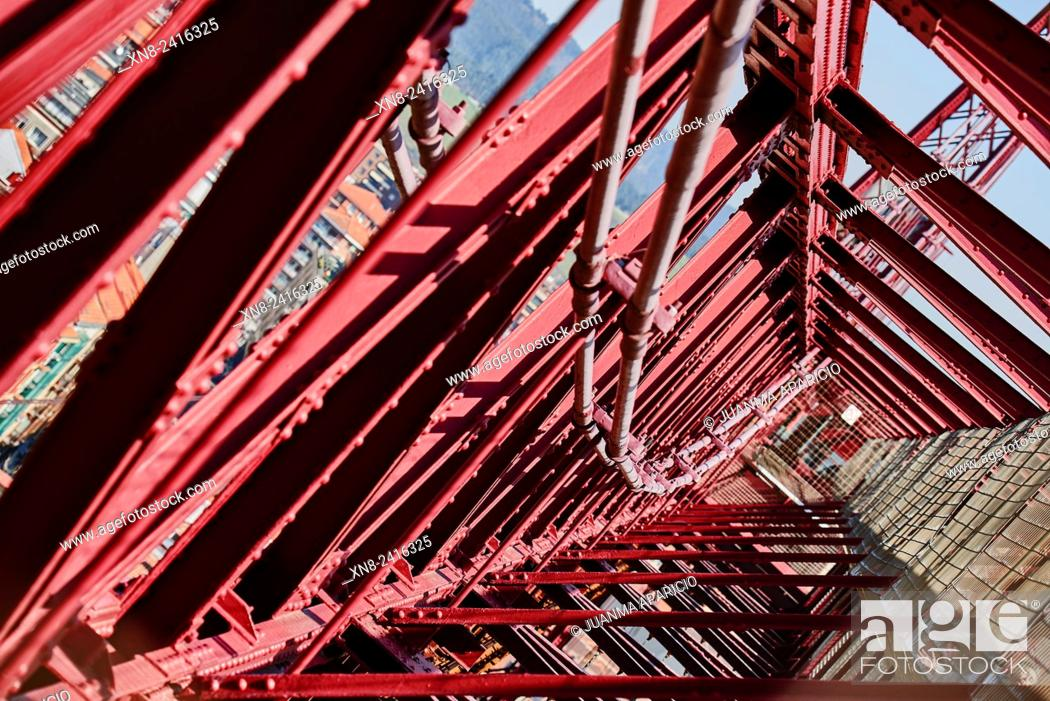 Stock Photo: Puente de Bizcaya (Transporter Bridge), Portugalete, Biscay, Basque Country, Euskadi, Spain, Europe.