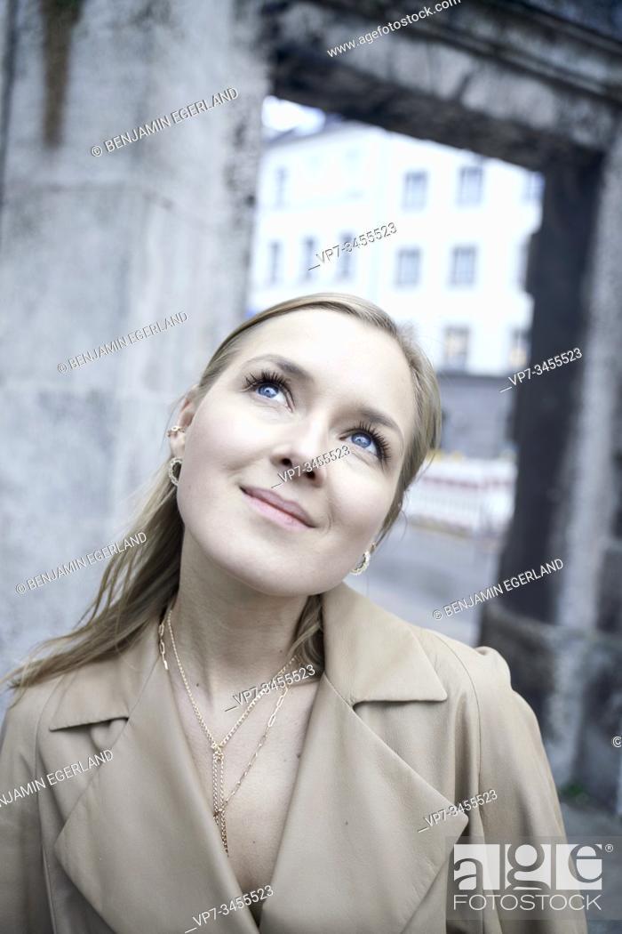 Stock Photo: Close-up portrait of blonde woman.