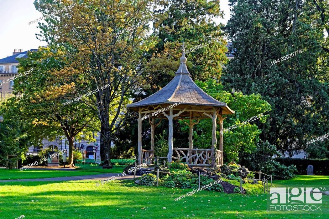 Jardin Anglais Englischer Garten Pavillon Stock Photo Picture