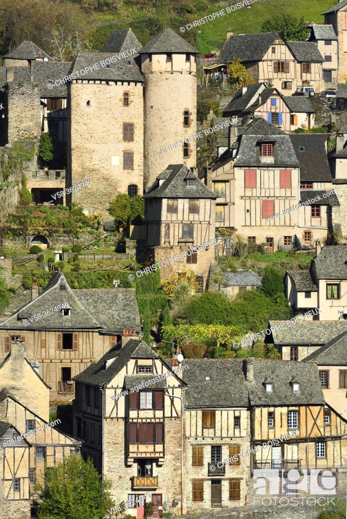 Stock Photo: France, Aveyron, Unesco World Heritage Site, Conques.