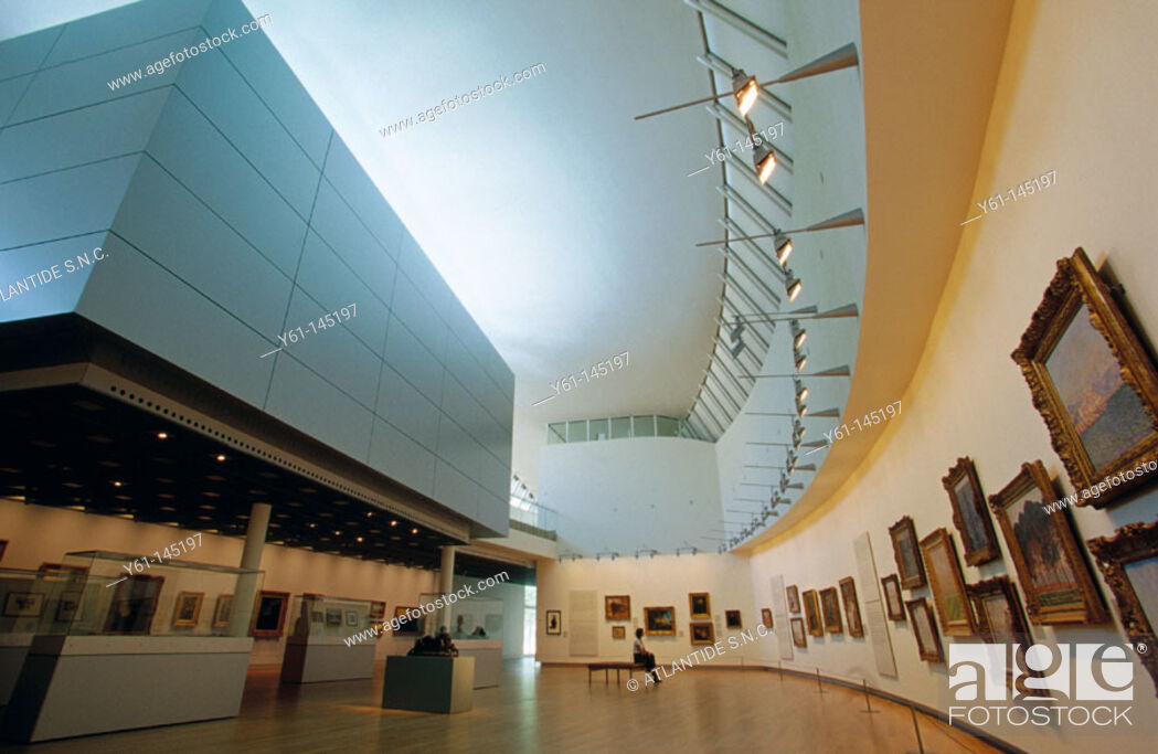 Stock Photo: New wing at the Van Gogh Museum. Amsterdam. Holland.
