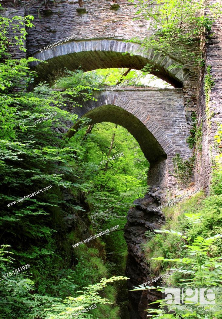 Stock Photo: Devil's Bridge, Ceredigion, Wales, Europe.