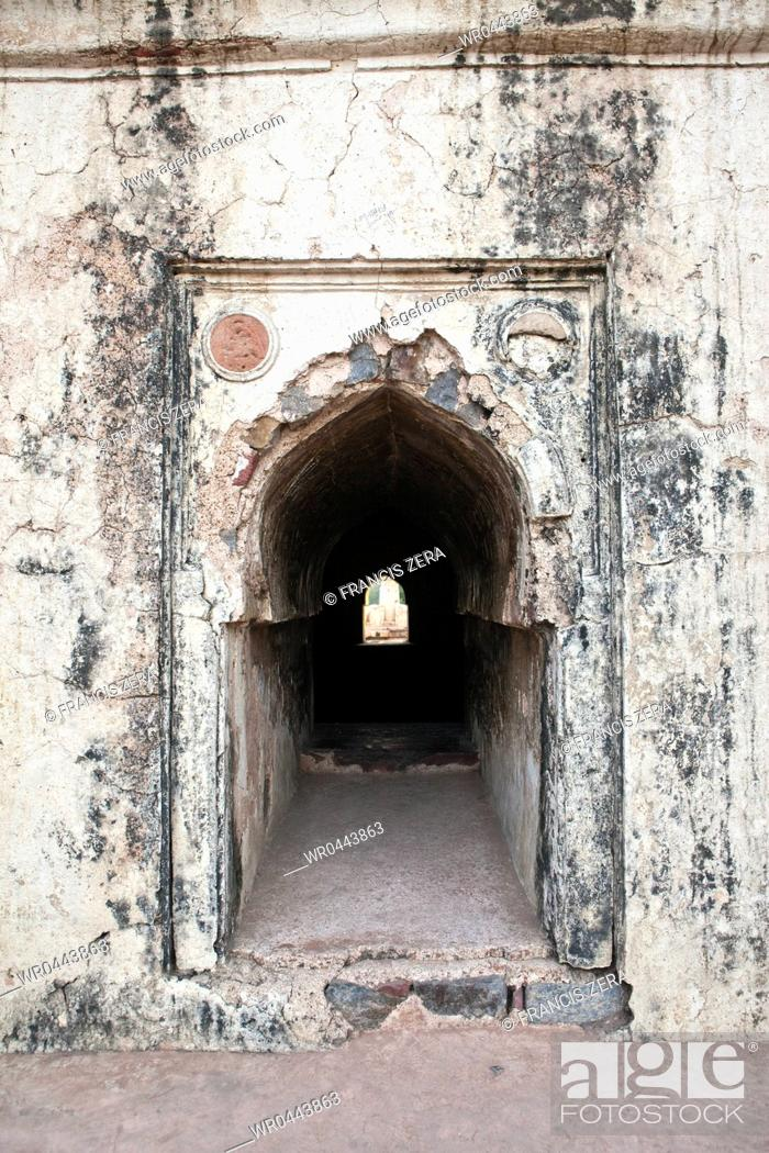 Stock Photo: Arched Hall at Hanumans Tomb.
