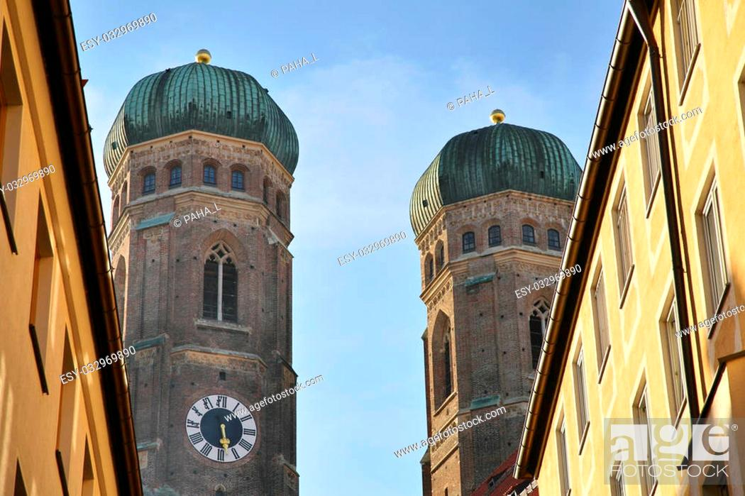 Stock Photo: Cathedral of Our Lady in Munich.