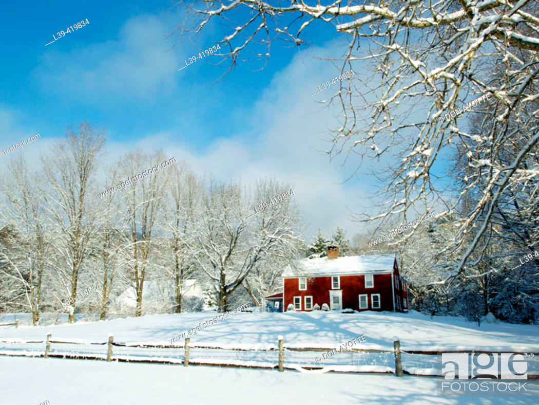 Stock Photo: Country home.