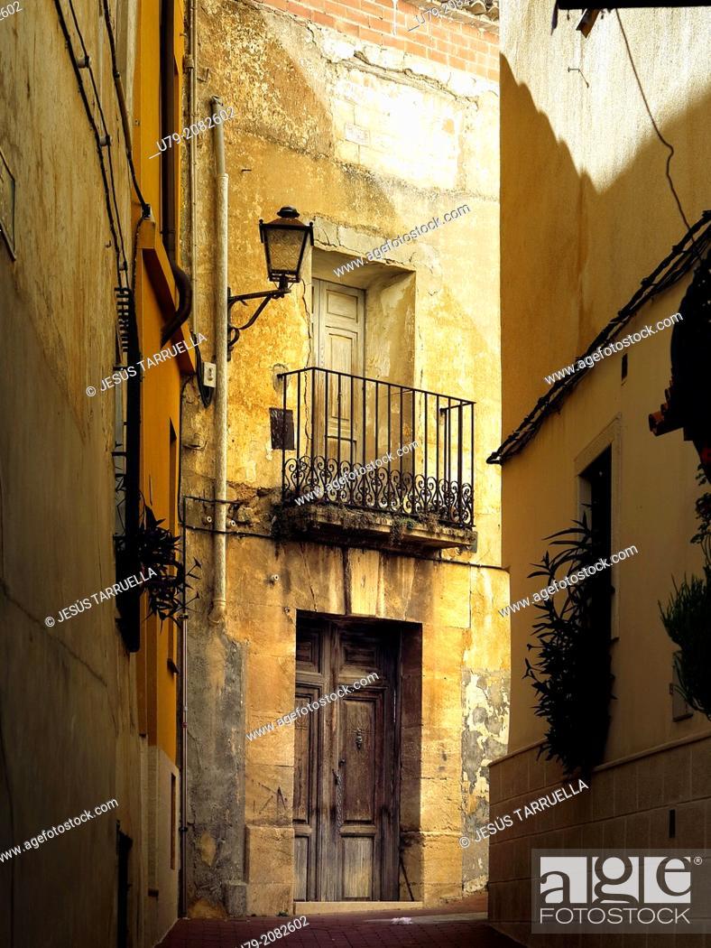 Stock Photo: Cocentaina historic district. Alicante. Valencia. Spain.