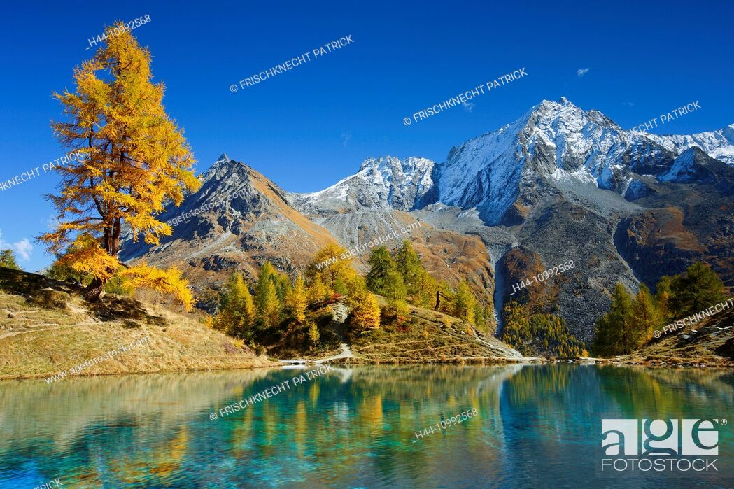 Imagen: Lac Bleu, Grande Dent de Veisivi, Dent de Perroc, Valais, Switzerland.