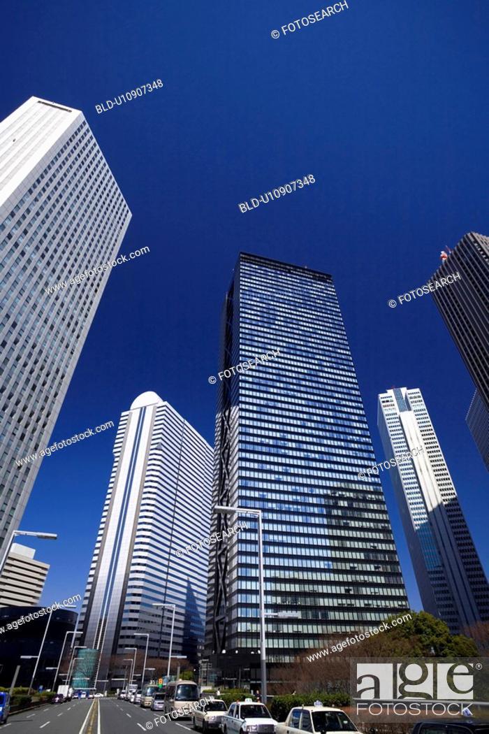 Stock Photo: Shinjuku newly developed city center.