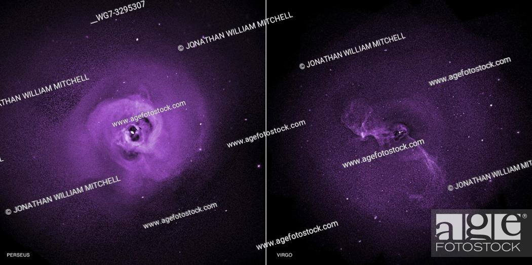 Stock Photo: OUTER SPACE -- 27 Oct 2014 -- The NASA Chandra X-Ray telescope observations of the Perseus and Virgo galaxy clusters have provided some new direct evidence that.