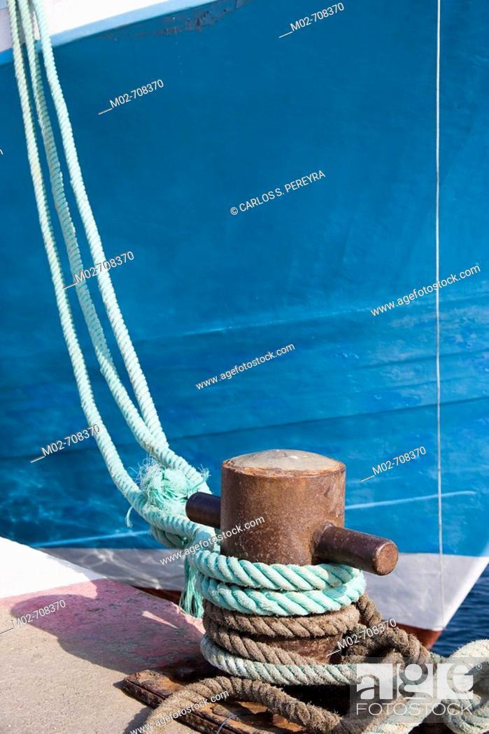 Stock Photo: Boat detail, Palamos, Costa Brava, Girona province, Catalonia, Spain.