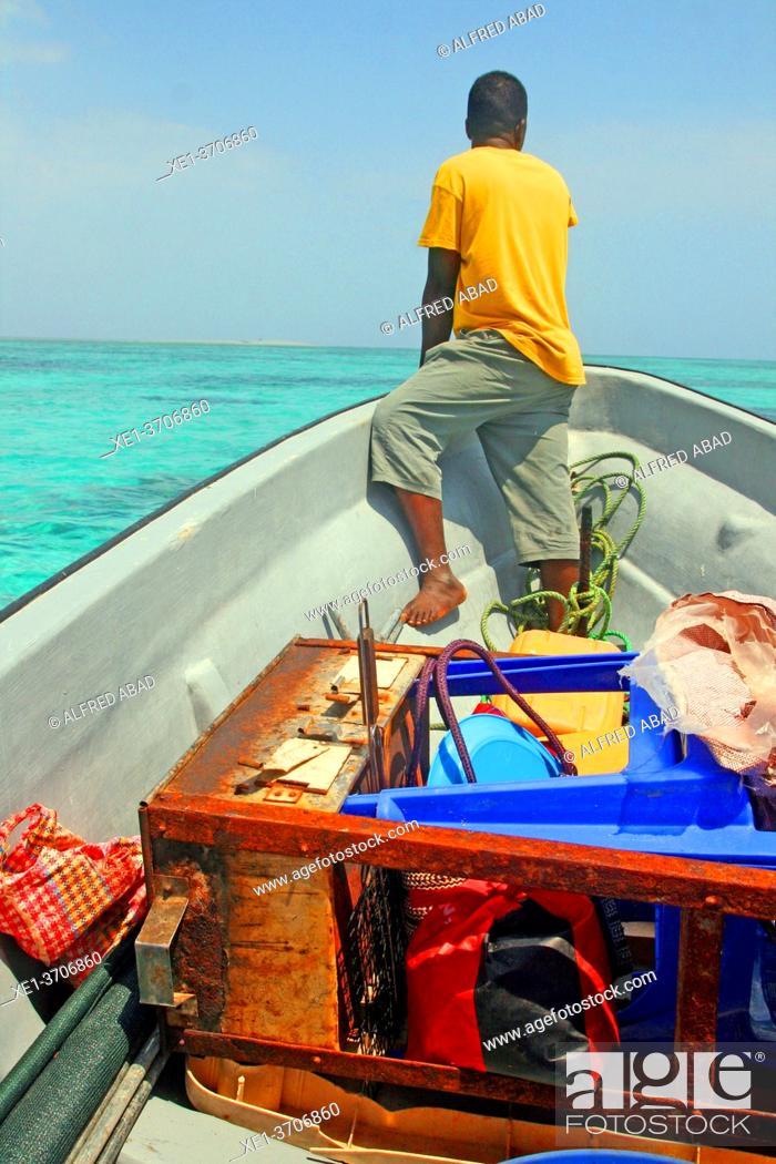 Stock Photo: Boatman, Unguja Island, Kizimkazi, Zanzibar.