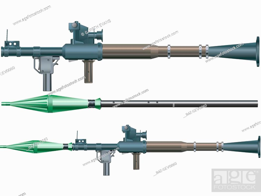 Stock Photo: A handheld anti-tank RPG-7 rocket-propelled grenade launcher.