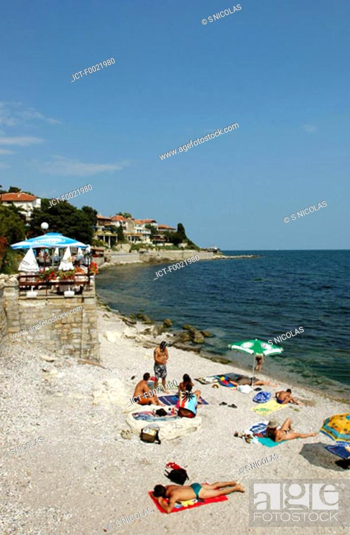 Stock Photo: Bulgaria, Nesebar, beach.