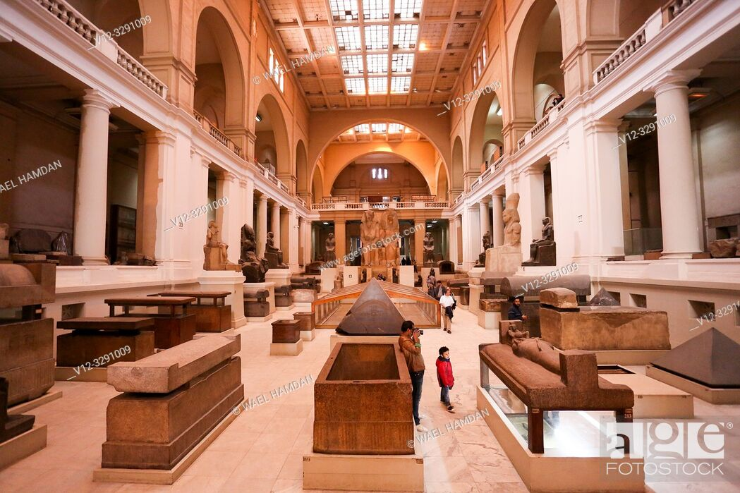 Stock Photo: inside view of egyptian musuem in cairo.